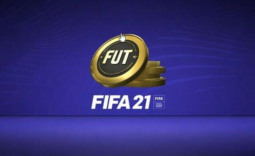 Fifa 21 coins (FUT) coins example.