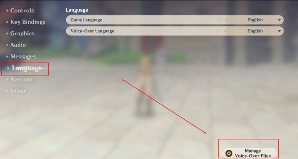 How to install or unistall Genshin Impact voice and text Languages