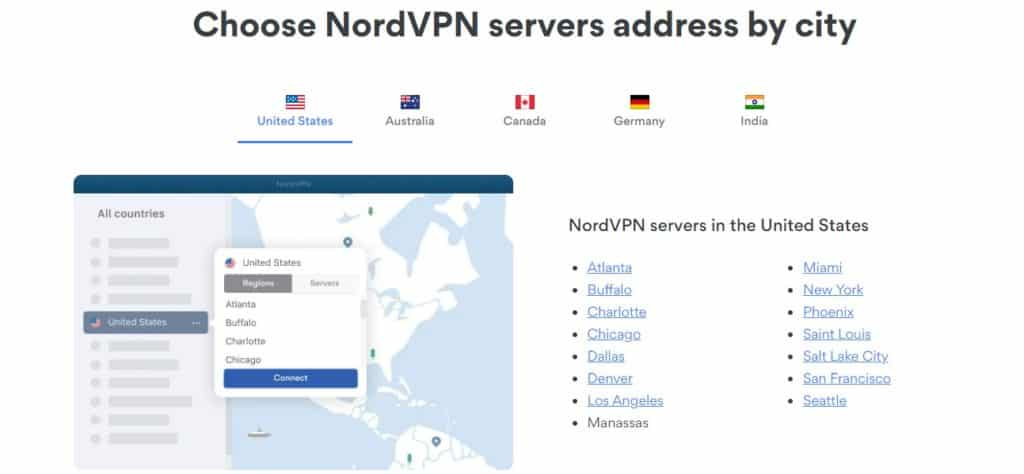 NordVPN Features and Countries, cities available for Stardew Valley
