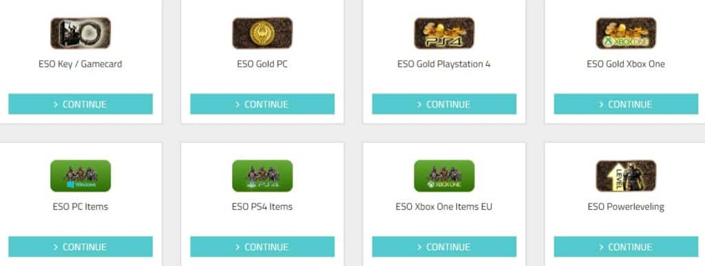 One of the best places to buy ESO gold, items, power leveling, gamecards, ps4 and xbox items.