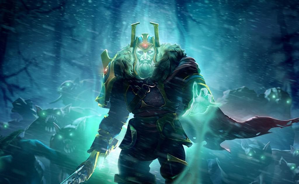 Photo from an in-game hero of Dota 2.
