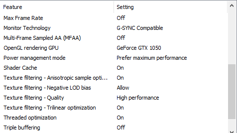 Best NVidia control panel settings for Windows 11.(2)