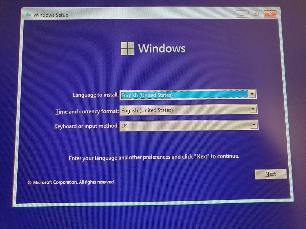 Choose Windows 11 language