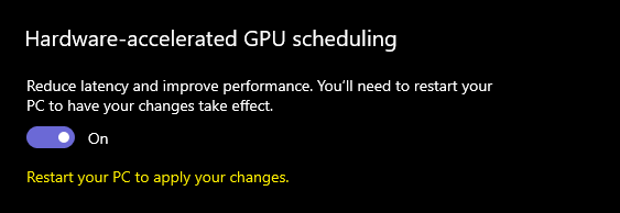 How to enable Hardware-accelerated GPU scheduling in Windows 11.