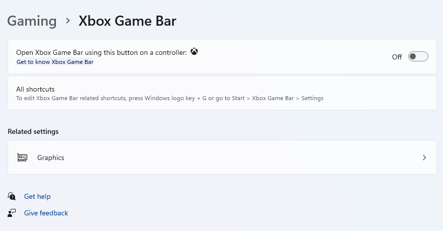 How to disable XBOX Game Bar in Windows 11.